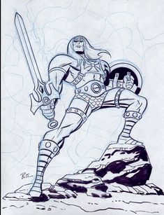 He-Man by Bruce Timm.