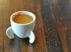 This 3D espresso cup exactly represents what its content should do with you in the morning.