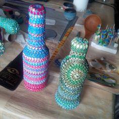 bottle Polymer Clay, Bottle, Home Decor, Decoration Home, Room Decor, Flask, Interior Design, Home Interiors, Jars