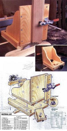 Table Saw Tenon Jig Plans - Joinery Tips, Jigs and Techniques | WoodArchivist.com #woodworkingprojects #woodworkingtools