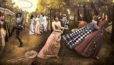 NADA ACKEL.  MARIE VETSERA, 1989. Huile sur toile (oil on canvas), 114x200 cm.