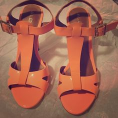 Aldo Laedia Beautiful peach heeled sandals. Perfect for spring and summer. ALDO Shoes Heels