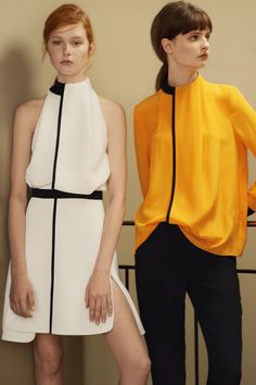 Artsy Jeans, Ruffled Skirts, and More From Victoria, Victoria Beckham Resort '16 - Gallery - Style.com