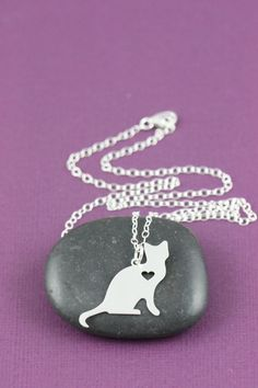Hey, I found this really awesome Etsy listing at https://www.etsy.com/listing/182911718/cat-necklace-kitty-necklace-sterling