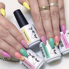 Perfect Pastel Nails for Spring! Nails Created using NSI Polish Pro Spring Bloom Collection
