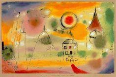 """Paul Klee: """"Día de invierno justo antes de mediodía"""", 1928."""