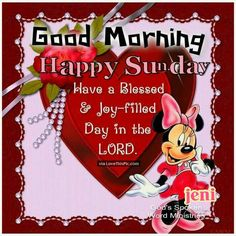 Good morning. Happy Sunday.