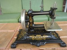vintage sewing machine Germany 1800's  early by romanticcountry, $499.99