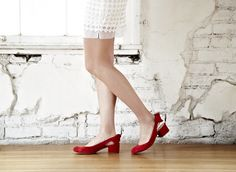 Comfy Red Bow Heels.