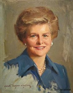 First Lady Betty Ford. Portrait painted by Everett Raymond Kinstler.