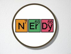 Counted Cross stitch Pattern PDF Nerdy by CharlotteAlexander, $4.00