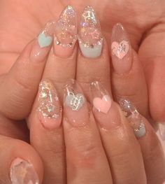 Stiletto acrylic nails something like fairy kei