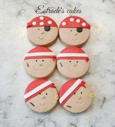 Estrade's cakes; galletas de piratas infantiles.