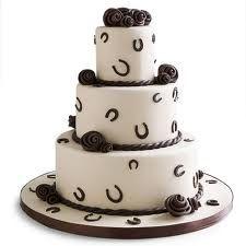 horseshoe wedding cake - Google Search