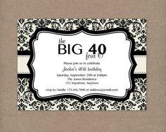 40th Birthday Party Invitations Wording Invitation Free