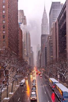 Snowy days in Tudor City by Greg Rox Photography @gregroxphotos | newyork newyorkcity newyorkcityfeelings nyc brooklyn queens the bronx staten island manhattan