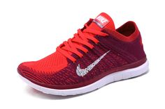 super popular fc8e8 f72bd Nike WMNS Free 4.0 Flyknit Raspberry Red Bright Crimson Sport Red White Nike  Basketball Shoes,