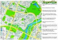 Use our fictional map of Hopeville with related ideas and challenges for children.