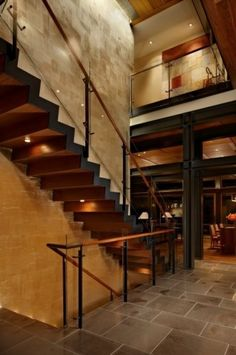 Lake House Two - Stair modern staircase