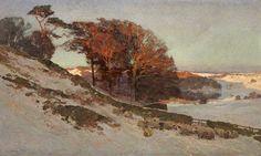 Edward Harrison Compton (1881-1960), Early Snow, Westmorland, Cumbria (1912), oil on canvas.  TRANSISTORADIO