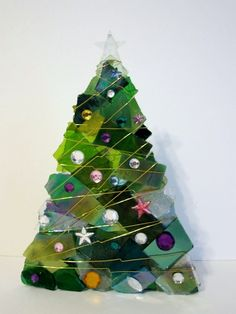 Christmas Tree in Green Glass from www.etsy.com - to purchase folllow the etsy.com link below $80.00