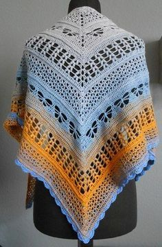 Halata Shawl English Cartamodello Pinterest