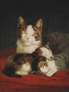 Mother and Kittens John Henry Dolph Private Collection
