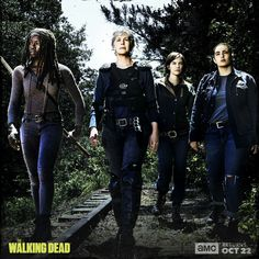 TWD Season 8 // Michonne Carol Maggie and Tara
