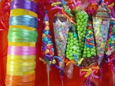 Candy Cone, Sweet Cones, Tangled Party, Mouse Parties, Kid Parties, Chocolate Bouquet, Ideas Para Fiestas, Candy Buffet, Candyland