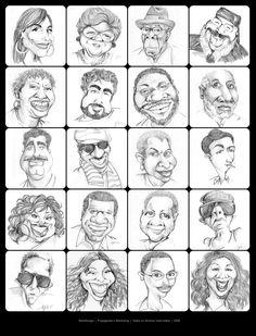 Caricaturas de sambistas. Você gosta de samba? Visite o Traço de União -> http://www.tracodeuniao.com.br