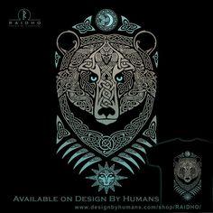 It would be so cool to turn this design into a metal door knocker! Viking Tattoo Symbol, Viking Tattoos, Druid Tattoo, Slavic Tattoo, Norse Tattoo, Celtic Tattoos, Berserker Tattoo, Maori Tattoos, Viking Wallpaper