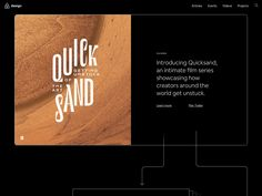 Quicksand - airbnb.design/quicksand/ Code And Theory, Frank Chimero, Airbnb Design, Writing A Love Letter, Overcoming Adversity, Game Codes, Article Design, Architecture Student, Sand Art