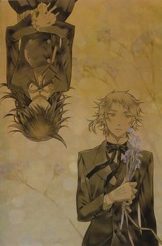 Tags: SQUARE ENIX, Pandora Hearts, Upside Down, Elliot Nightray, Leo Baskerville, Brown, Spot Color