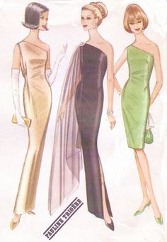 1960s Pauline Trigere McCalls Sewing Pattern 8042 by CloesCloset