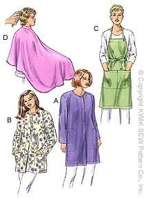 Kwik Sew® Smock, Apron & Cape Pattern-apron pattern, smock pattern, barber cape, patterns for aprons, apron patterns, aprons, salon