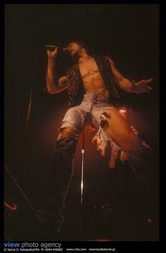 Iggy Pop Live at Rodon Club, Athens Greece 9-2-1991. Photo: Spiros Katopodis/VPA