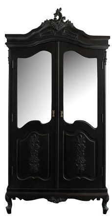 Noir 2 Door Wardrobe! Dark beautiful bedroom furniture