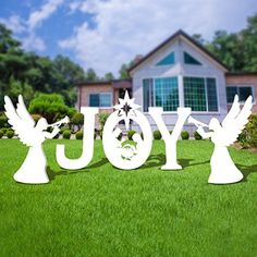 Unomor Outdoor Nativity Set - Full Yard Nativity Scene with Holy Family and Angle Grinch Christmas Decorations, Christmas Yard Art, Christmas Nativity, Christmas Projects, Christmas Lights, Christmas Diy, Christmas 2019, Yard Nativity Scene, Outdoor Nativity Sets
