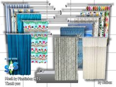 Shower tub curtains by OldBox at All 4 Sims via Sims 4 Updates