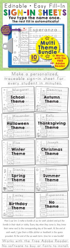 FREE editable and blank sign in sheets for your early childhood - student sign in sheet