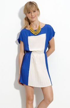 Lush Colorblock Pleated Dress #nordstroms $52