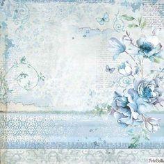 for Decoupage Scrapbook Craft Blue Land Lantern Rice Paper
