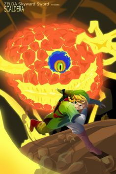 Zelda Skyward Sword SCALDERA by ~zeldanatico on deviantART...This was the hardest boss for me, it's right next to Demise...never doing this again...maybe. :)