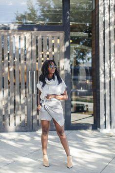 Lou & Grey sweater + ZARA tie-wrap skirt + Acne Studios booties | MILLENNIELLE