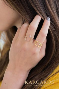 #diamond Open Rings #stack #statement created for an eye catching appearance. Woman Real Diamond Gold Ring... Brought to life with flat and curved #jewellery shapes to express endless forms. #fine #geometric #opencircle #opensquare #openoval #kargakos #designer #athens #greece #jewelrymaker #goldsmith #fine #luxury #boutique #athens #syntagma #etsyfinds #forsale #shopping #favorite #trending Gold Diamond Rings, Silver Diamonds, Natural Diamonds, Gold Rings, Square Rings, Open Ring, Athens Greece, Gold Material, Solid Gold