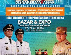 Dinas Tenaga Kerja Kota Makassar Buka Job Fair Bazar dan Expo 2016