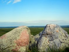 2012 Summer Soltice.  Majorville Medicine Wheel's rocks that line up to show the Fall Equinox.  (Alberta, Canada)