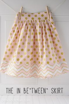 """This featured tutorial is for a perfectly feminine and modest skirt for pre-teens. It's still fashionable, yet still age-appropriate! You'll find the tutorial over at Polka Dot Chair! Supplies: 1 yard of fabric for the skirt and the waistband 1/2 yard of fabric for the band of the skirt 1 7"""" – 9"""" invisible zipper … … Continue reading →"""