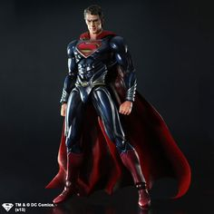 Square Enix Unveils New 'Man Of Steel' Superman And General Zod Play Arts Kai Figures