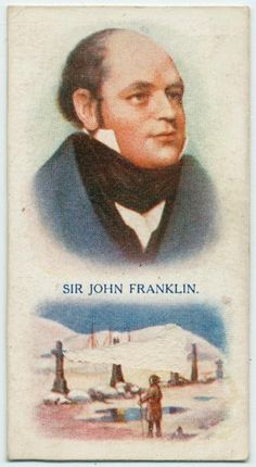 Cigarette-card portrait of Franklin Thanks to Russell Potter for me let me know about its existence. Benefits Of Not Smoking, Franklin Expedition, Empire, Library Services, Collector Cards, New York Public Library, Arctic, British, Cigarette Box